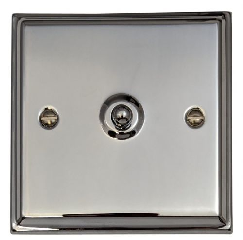 G&H DC285 Deco Plate Polished Chrome 1 Gang Intermediate Toggle Light Switch